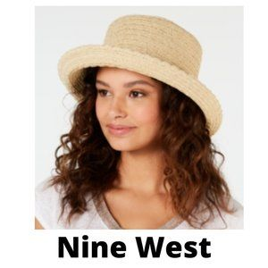 Nine West Packable Straw Kettle Hat - New